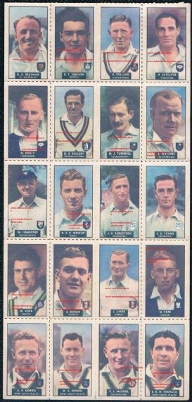 1948 Don Bradman cricket decals WHC Barratt